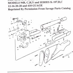 Savage Model 110 Parts Diagram Basic Small Boat Wiring Shotgun Stevens Springfield Original Obsolete Autsomatic