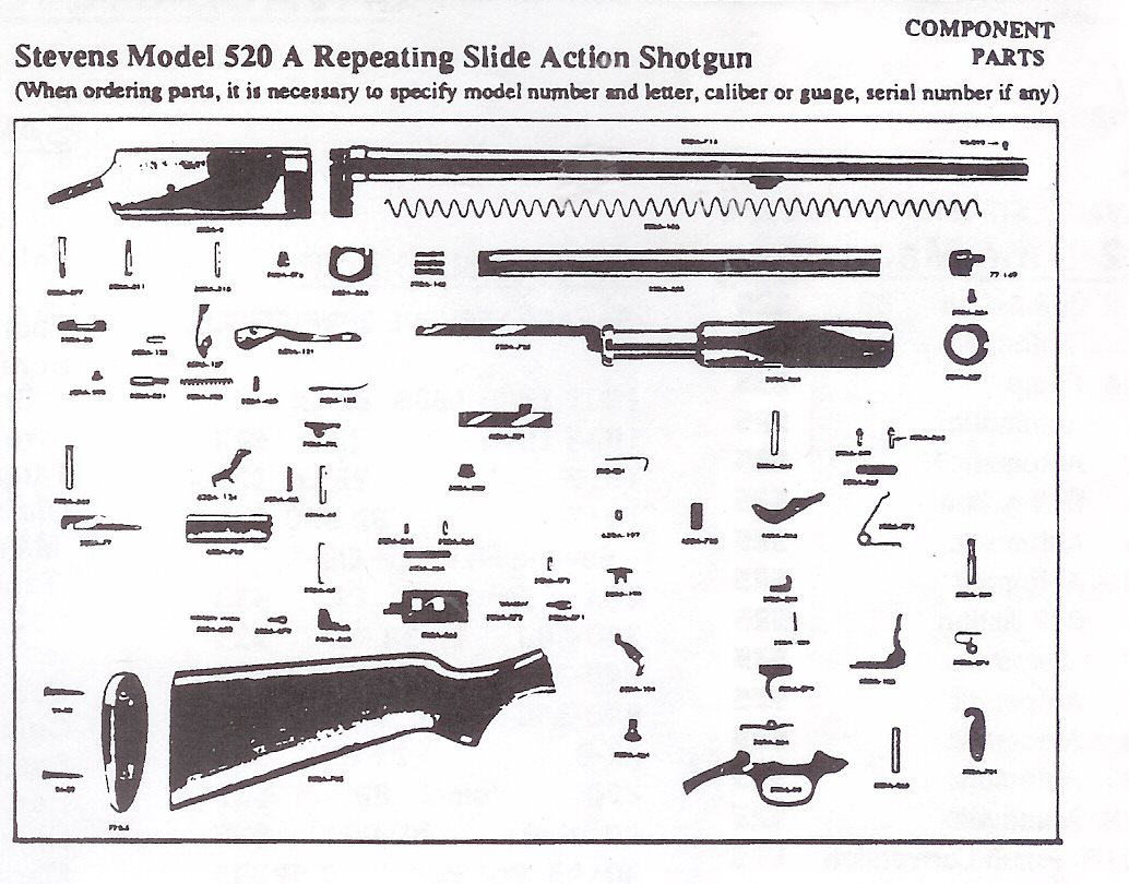 savage model 110 parts diagram grand jeep wiring cherokee 1998 radio shotgun stevens springfield original obsolete autsomatic