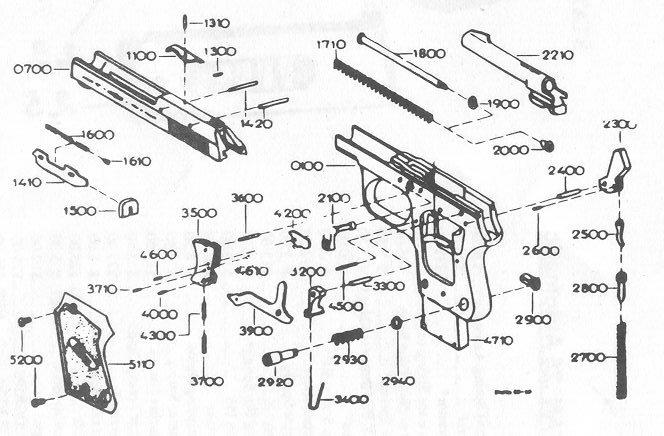 French UNIQUE GUN PARTS, Factory Unique Gun Repaire Parts