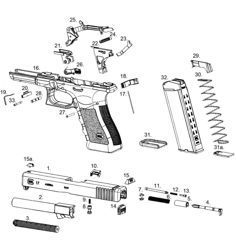 hight resolution of pistol diagram glock