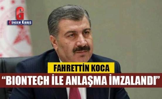 Υπουργός Koca: Υπογραφή συμφωνίας με την BioNTech