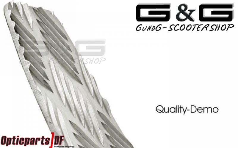 Kick Plate ODF In Aluminum checker for Derbi GP1 Racing 50