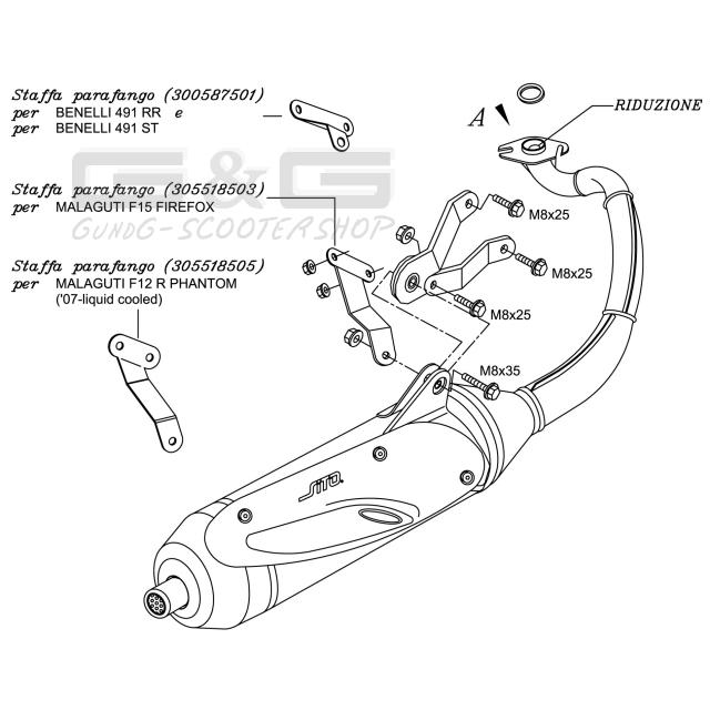 Original Auspuff Sito Plus Yamaha Aerox MBK Nitro Benelli