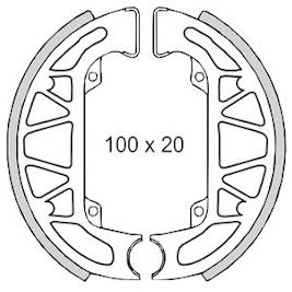 Bremsbacken 100x20mm für Piaggio Free NRG TPH Typhoon