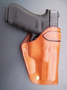 "The Ted Blocker crossdraw has earned the ""classic"" title, because it continues to work well with modern handguns. With practice, it is versatile and fast into action."