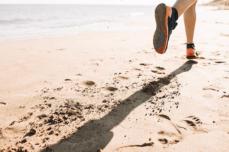 Caminhada na areia