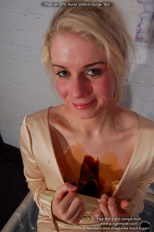 Nurse Uniform Gunge Test  Clothes filling and treacle