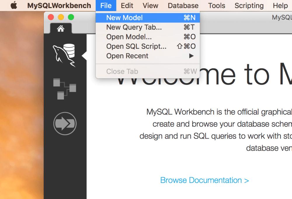 medium resolution of mysql workbench new model
