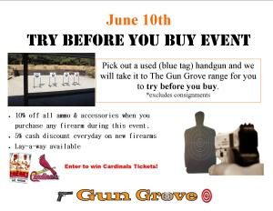 Try Before You Buy Event June 10th