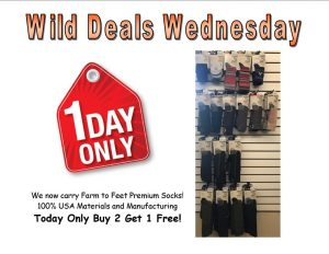 Wild Deals Wednesday - 1 Day Only - Farm to Feet Premium Socks Buy 2 Get 1 Free!