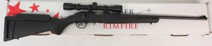 Used Ruger American .22LR w/ scope and box $265