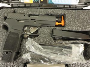 Used Sig Sauer P320 Carry Tacops 9mm w/ night sights, 3 extra magazines and case $650