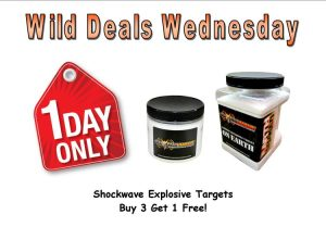 Wild Deals Wednesday - 1 Day Only - Shockwave Targets Buy 3 Get 1 Free!