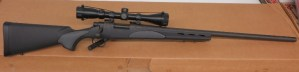 On Consignment:  Un-Fired Remington 700 SPS Varmint .22-250 w/ scope and box $595