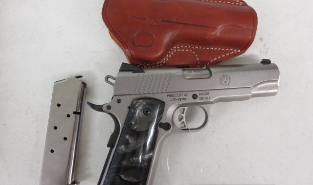 On Consignment: Ruger SR1911  45 acp w/ extra magazine and holster