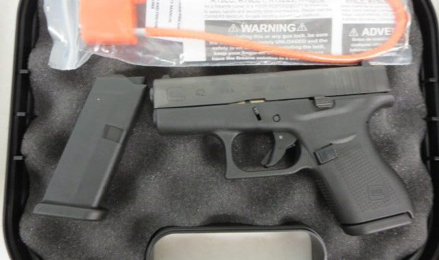 Used Glock 42  380 w/ extra magazine and case $350 – GunGrove com