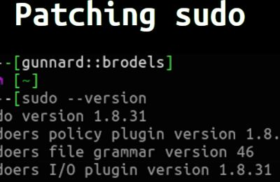 How to patch Sudo