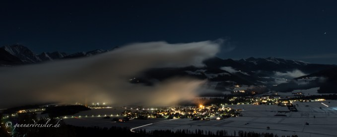 The Antholz valley hidden in the clouds, around midnights II
