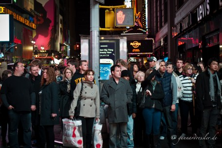 Pedestrians at Times Square