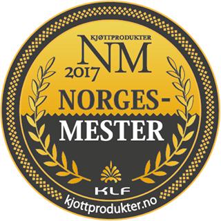 Norgesmester 2017. Medalje.