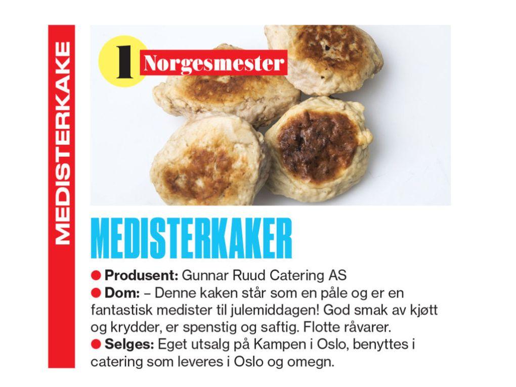 Medisterkaker, bilde fra VG Norgesmester
