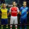 Santi Cazorla, Mikel Arteta, Mathieu Flamini new Puma kits