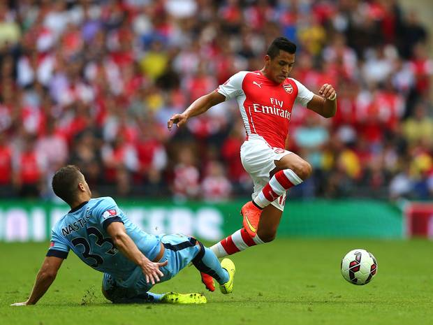 Alexis getting used to the system.