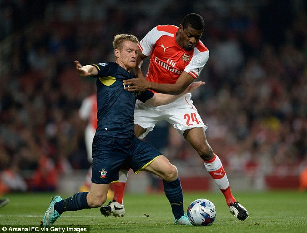 Diaby lined up in a defensive role on his return