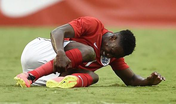 Welbeck hobbled off while on international duty