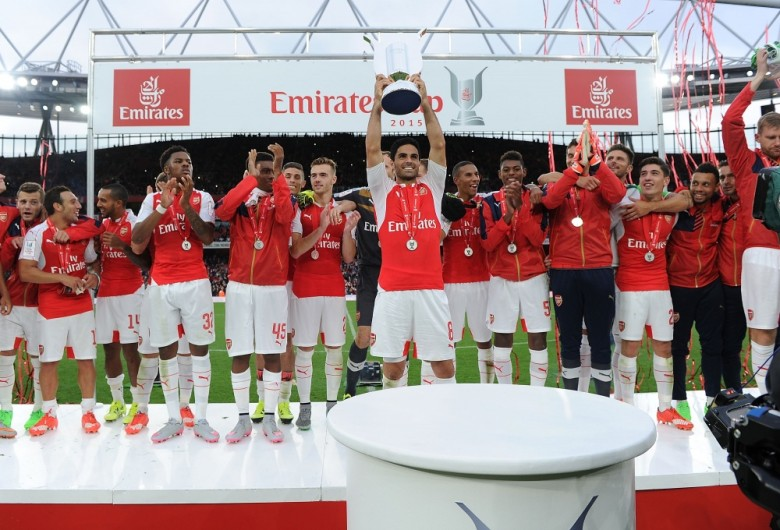 Arsenal lift the Emirates Cup
