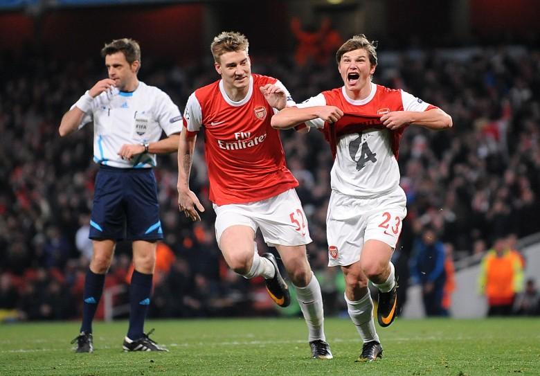 Arshavin helps Arsenal defeat Barcelona