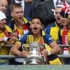 Sanchez lifts the FA Cup