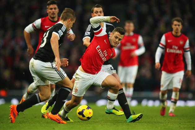 Jack Wilshere taking on Southampton, and making it happen for Arsenal