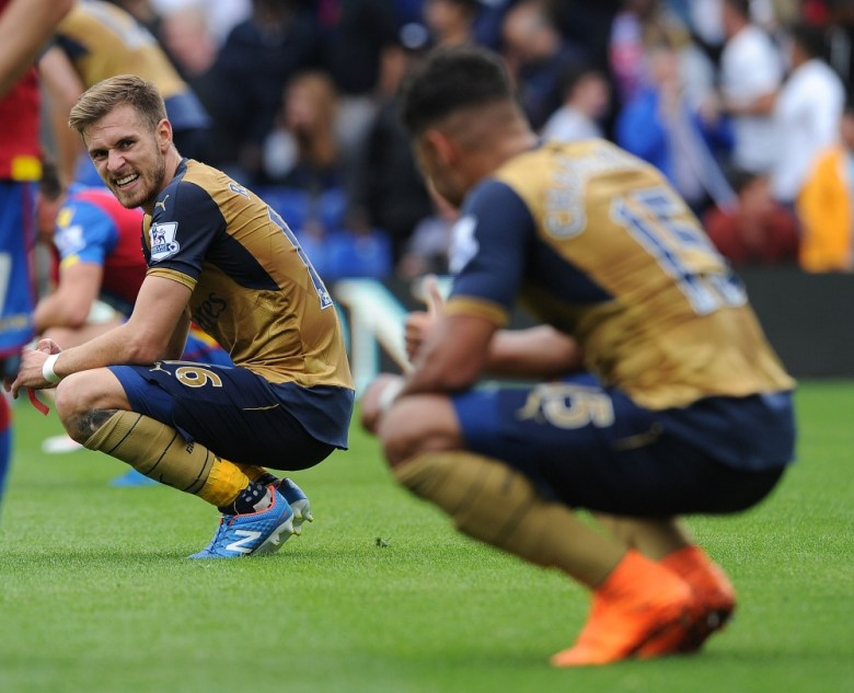 Ramsey and Oxlade after the game