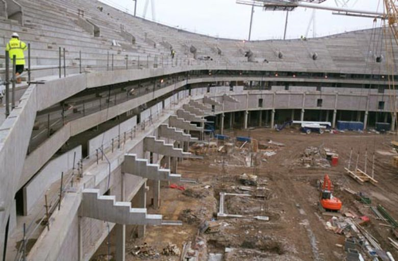 Building the new stadium