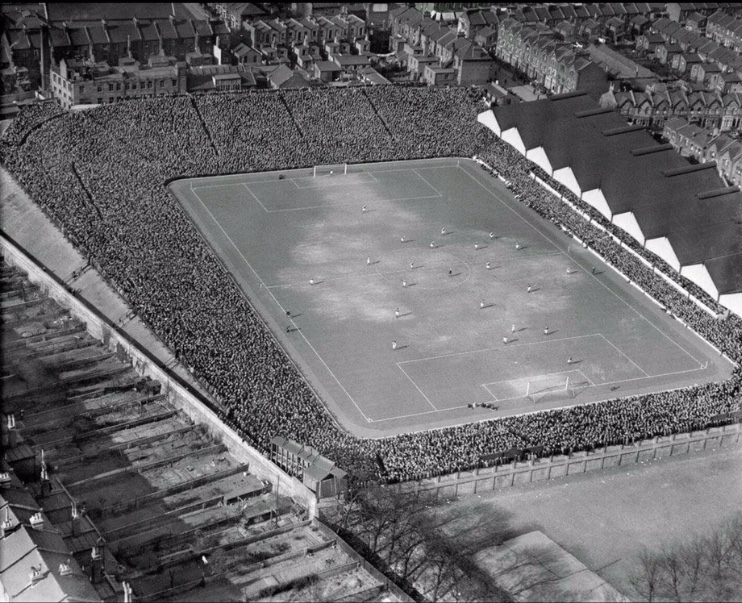 How Highbury looked before it was developed