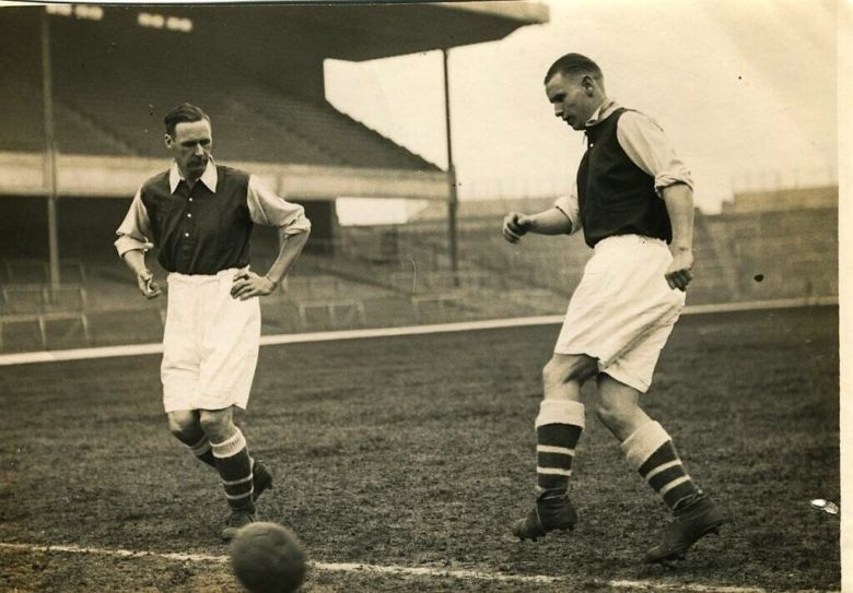 David Jack with Cliff Bastin at Highbury