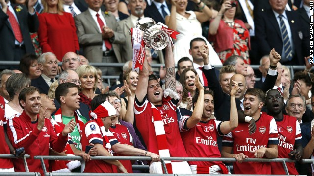 Arsenals nine year wait for a trophy was finally over