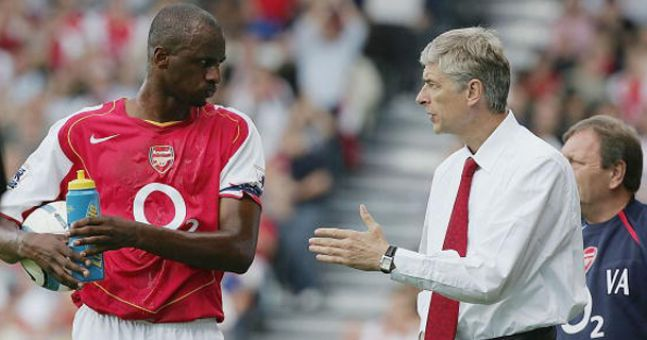 Vieira taking advice from the gaffer
