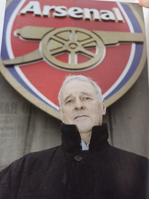 Arsenal's legendary enforcer Peter Storey outside the Emirates stadium