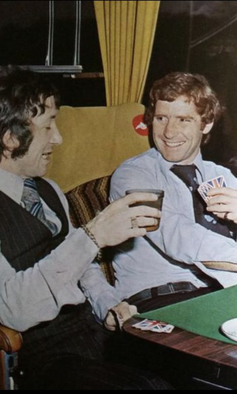 Geordie playing cards with Alan Ball