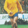 Geordie in a classic Arsenal away kit