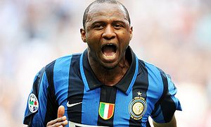 Paddy in the black and blue colours of Inter Milan