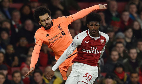 Star in the making? Maitland-Niles keit Salah out of the game