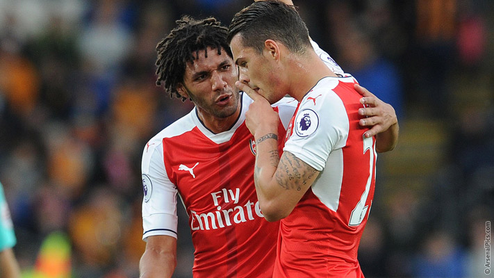 Elneny and Xhaka