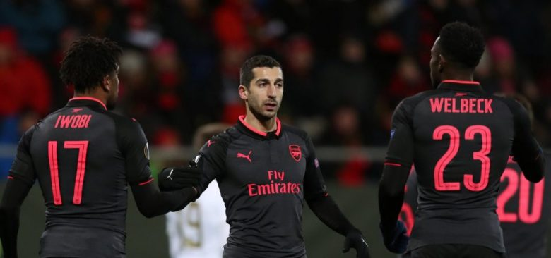 Iwobi, Mkhitaryan and Welbeck