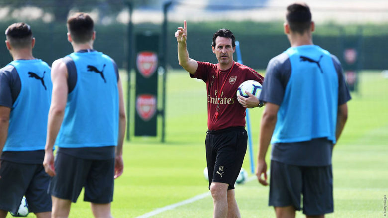 Image result for iwobi emery arsenal training