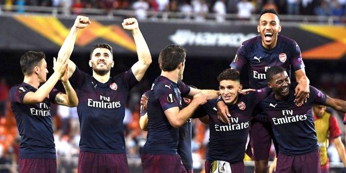 valencia 2-4 arsenal 2019