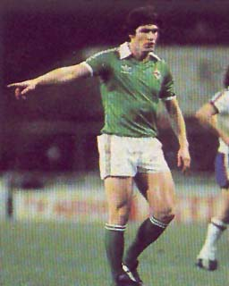 Pat in the green shirt of Northern Ireland never did get that 50th cap