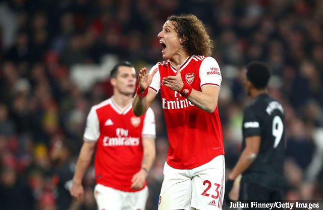 david luiz of arsenal reacts during the premier league match bet 1440305